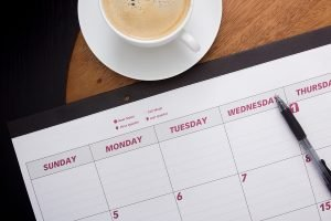 Maintaining A Routine An Empty Day Planner