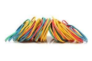 Pile of multi-colored rubber bands to illustrate Resiliency and Coping Skills.